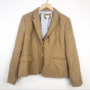 J. Crew Camel Wool Tailored Schoolboy Blazer
